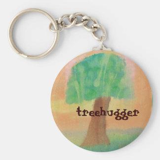 Treehugger Original Artwork Basic Round Button Keychain