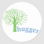 Treehugger Pegatina Redonda
