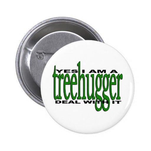 Treehugger Pride Pinback Button