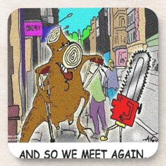 Treehugger Rick London Cartoon Funny Gifts Drink Coaster