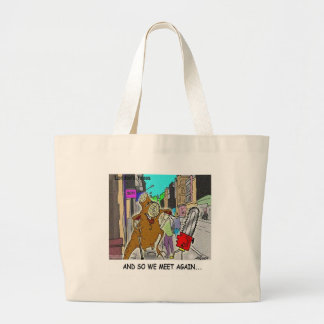 Treehugger Rick London Cartoon Funny Gifts Large Tote Bag