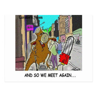 Treehugger Rick London Cartoon Funny Gifts Postcard