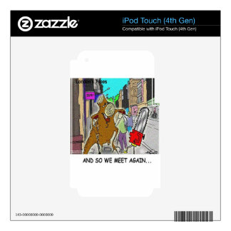Treehugger Rick London Cartoon Funny Gifts Skins For iPod Touch 4G