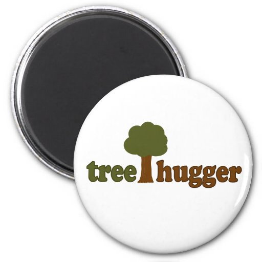 Treehugger (Tree) 2 Inch Round Magnet