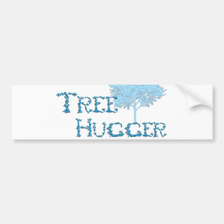 TreeHugger w/ tree Bumper Sticker
