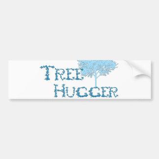 TreeHugger w/ tree Bumper Sticker