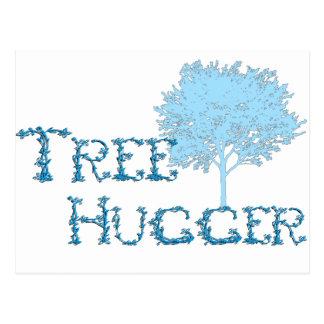 TreeHugger w/ tree Post Card