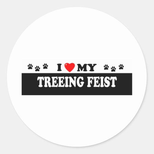 TREEING FEIST CLASSIC ROUND STICKER