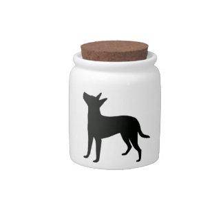 Treeing Feist Treat Jar Candy Jar