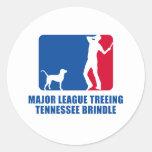 Treeing Tennessee Brindle Pegatina Redonda