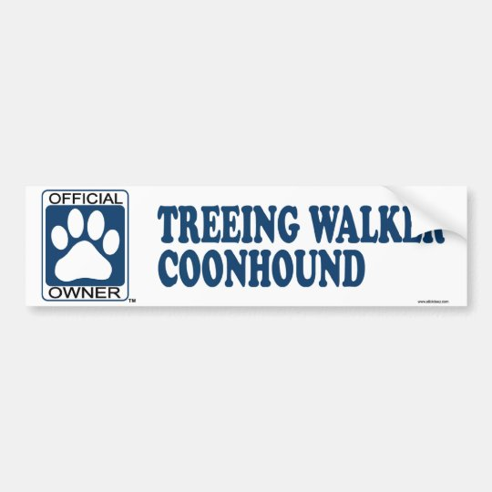 TREEING WALKER COONHOUND_Blue Bumper Sticker
