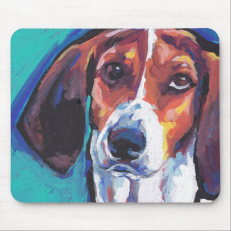treeing walker coonhound Bright Colorful Pop  Art Mouse Pad