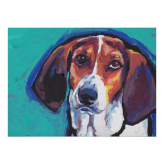 treeing walker coonhound Bright Colorful Pop Art Posters