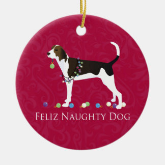 Treeing Walker Coonhound Christmas Ceramic Ornament