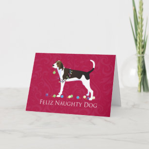 Treeing Walker Coonhound Christmas Holiday Card
