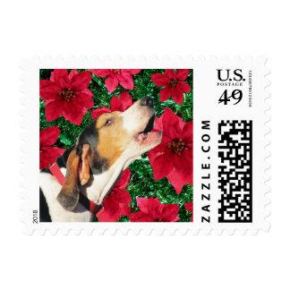Treeing Walker Coonhound Christmas Postage