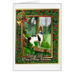 Treeing Walker Coonhound Dog Blank Christmas Card