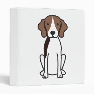 Treeing Walker Coonhound Dog Cartoon Binder