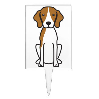 Treeing Walker Coonhound Dog Cartoon Cake Topper