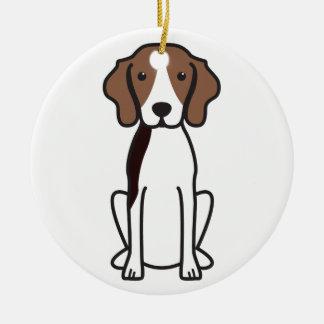 Treeing Walker Coonhound Dog Cartoon Ceramic Ornament