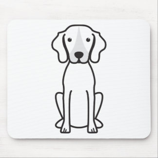 Treeing Walker Coonhound Dog Cartoon Mouse Pad