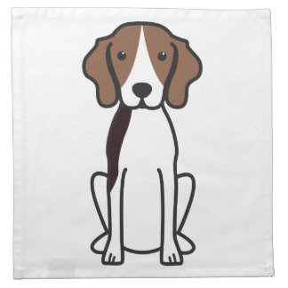 Treeing Walker Coonhound Dog Cartoon Printed Napkins