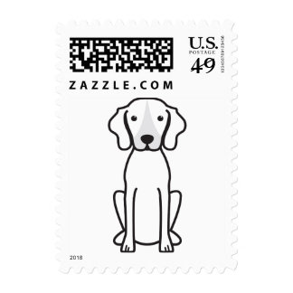 Treeing Walker Coonhound Dog Cartoon Postage Stamp