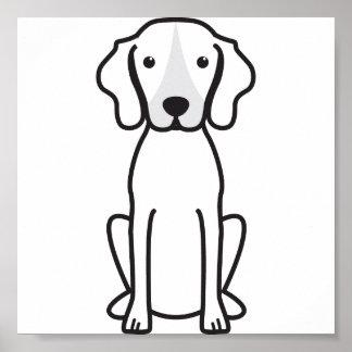 Treeing Walker Coonhound Dog Cartoon Poster