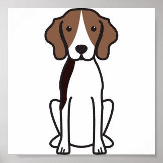 Treeing Walker Coonhound Dog Cartoon Print