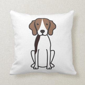 Treeing Walker Coonhound Dog Cartoon Throw Pillow
