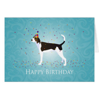 Treeing Walker Coonhound Happy Birthday Design Card