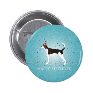 Treeing Walker Coonhound Happy Birthday Design Pinback Button
