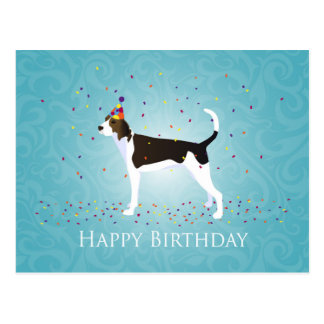 Treeing Walker Coonhound Happy Birthday Design Postcard