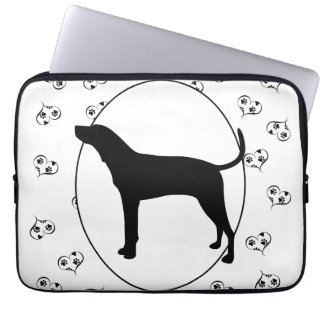 Treeing Walker Coonhound Hearts and Paw Prints Laptop Sleeve