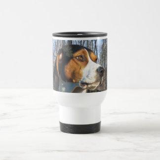 Treeing Walker Coonhound In Woods Travel Mug