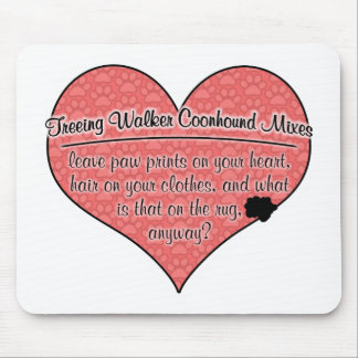 Treeing Walker Coonhound Mixes Paw Prints Humor Mouse Pad