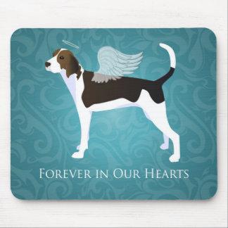 Treeing Walker Coonhound Pet Memorial Angel Dog Mouse Pad