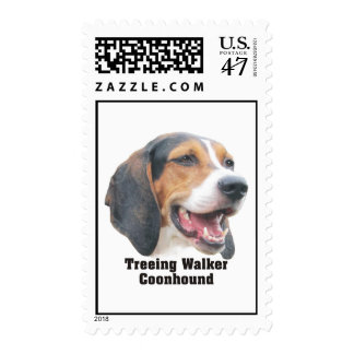 Treeing Walker Coonhound Postage Stamps