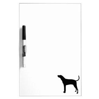 Treeing Walker Coonhound Silhouette Dry-Erase Board