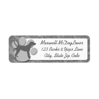 Treeing Walker Coonhound Silhouette Return Address Label
