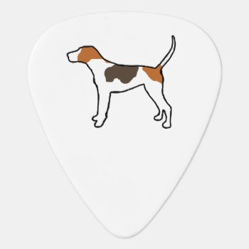 Treeing Walker Coonhound Silo Color.png Guitar Pick by BreakoutTees at Zazzle