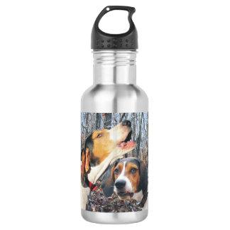 Treeing Walker Coonhounds In Woods Water Bottle