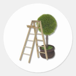 TreeLadder083010 Pegatina Redonda
