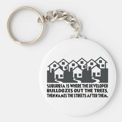 Treeless Suburbia Keychains