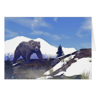 Treeline Grizzly Card