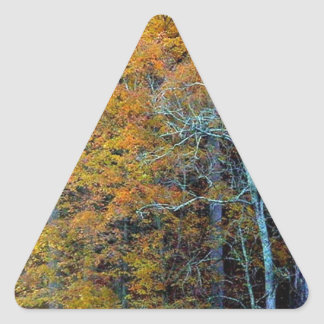 TREELINE IN AUTUMN TRIANGLE STICKER