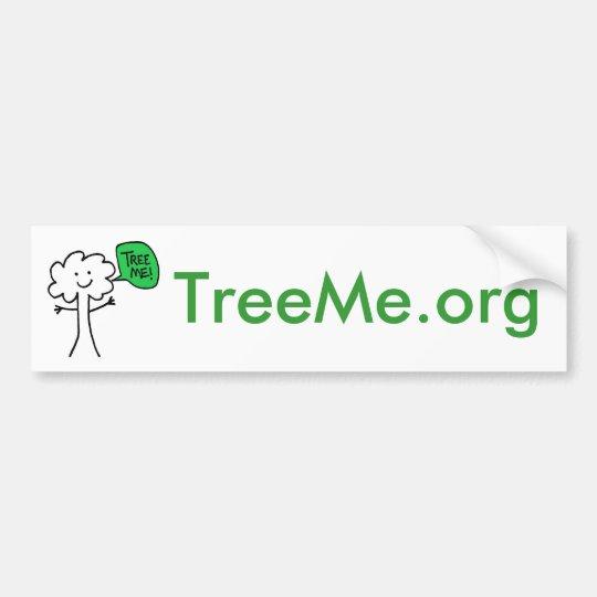 TreeMe bumper sticker