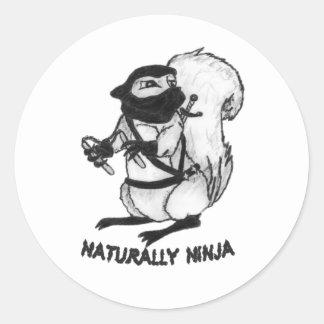 Treerat Ninja Pegatina Redonda