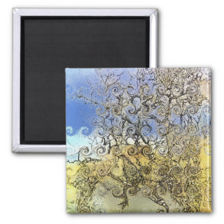 TREES 2 INCH SQUARE MAGNET