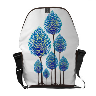 Trees - Abstract - 2 Messenger Bags